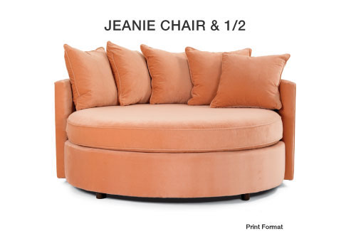 Jeanie chair and a half