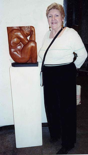 Aunt Miriam with one of her sculptures