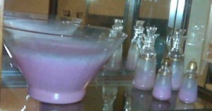 Salad bowl and oil and vinegar I begged from my mother-in-law