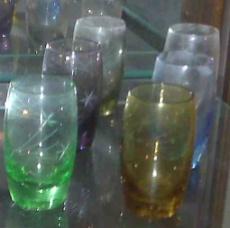 1950s shot glasses